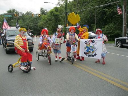 Kapitol Klowns in the 2012 City of Gaithersburg Labor Day Parade