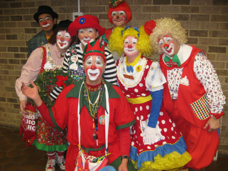 Members of the Kapitol Klowns at the Special Love Holiday Party