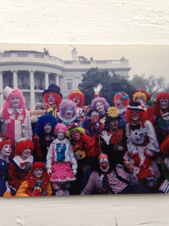 Kapitol Klowns gather for a group photo during the Easter Egg Roll at The White House. Year unknown.